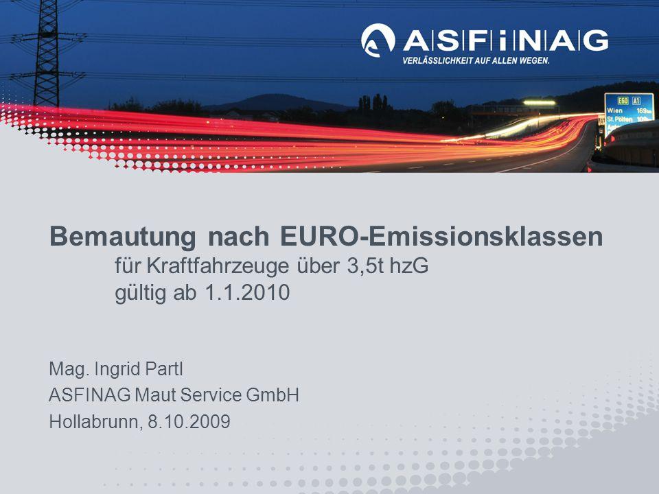 Bemautung nach EURO-Emissionsklassen