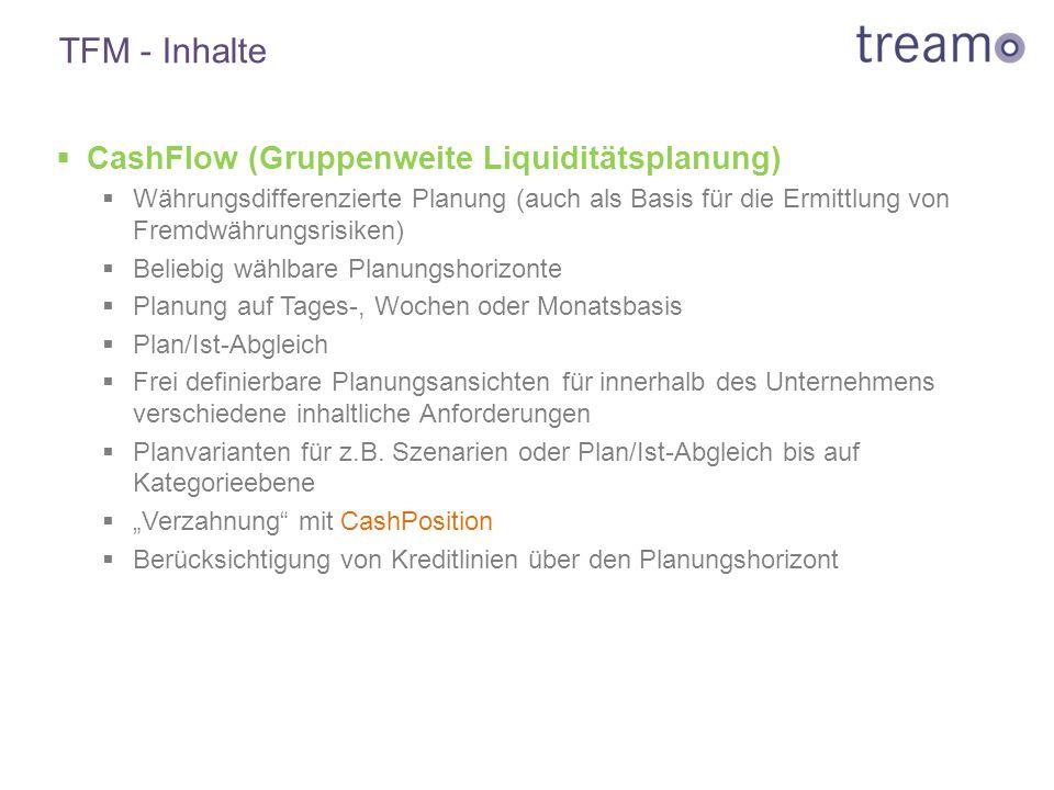 TFM - Inhalte CashFlow (Gruppenweite Liquiditätsplanung)