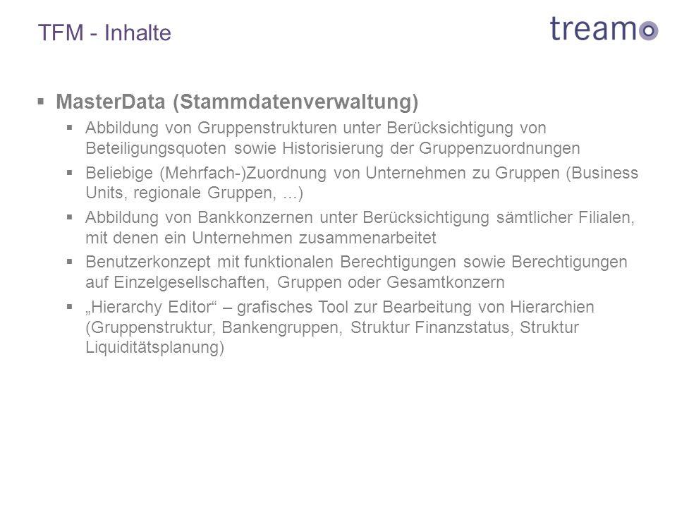 TFM - Inhalte MasterData (Stammdatenverwaltung)