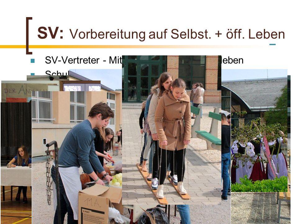 SV: Vorbereitung auf Selbst. + öff. Leben