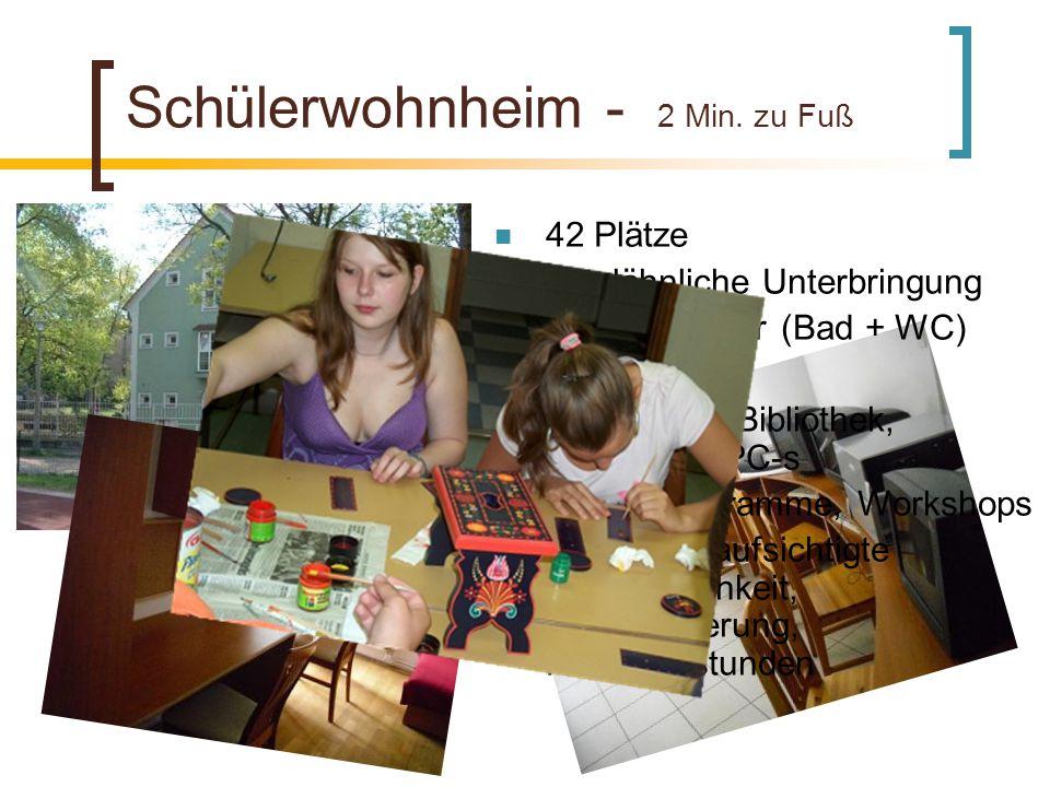 Schülerwohnheim - 2 Min. zu Fuß