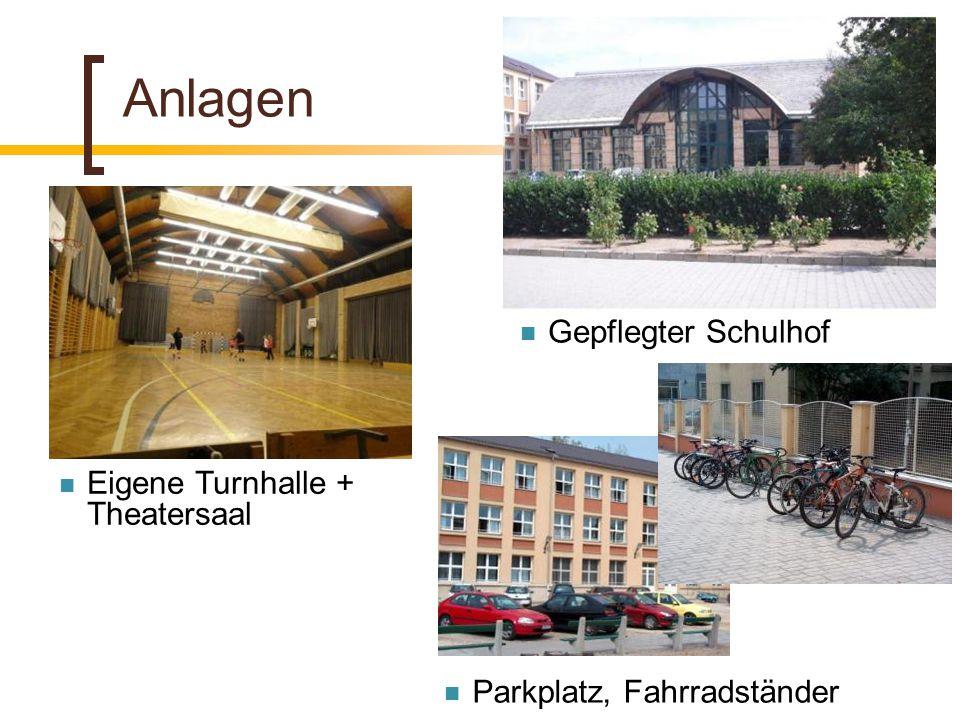 Anlagen Gepflegter Schulhof Eigene Turnhalle + Theatersaal