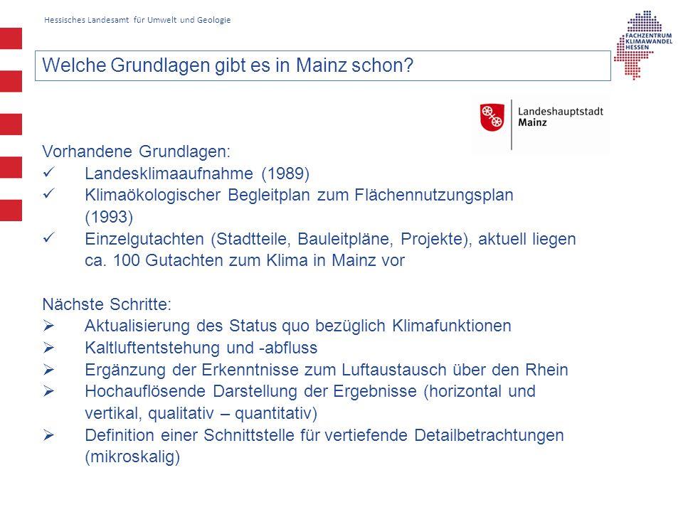Welche Grundlagen gibt es in Mainz schon