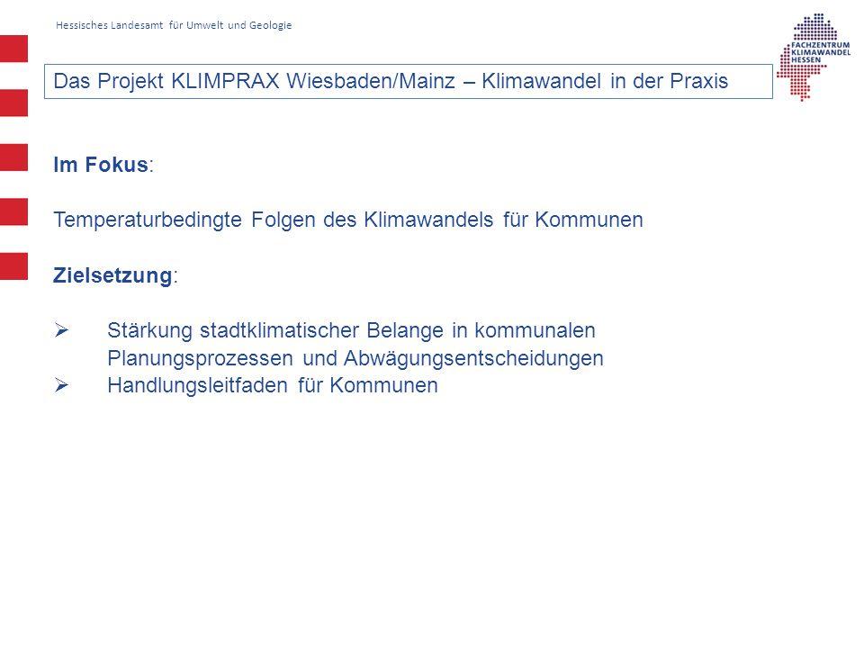 Das Projekt KLIMPRAX Wiesbaden/Mainz – Klimawandel in der Praxis