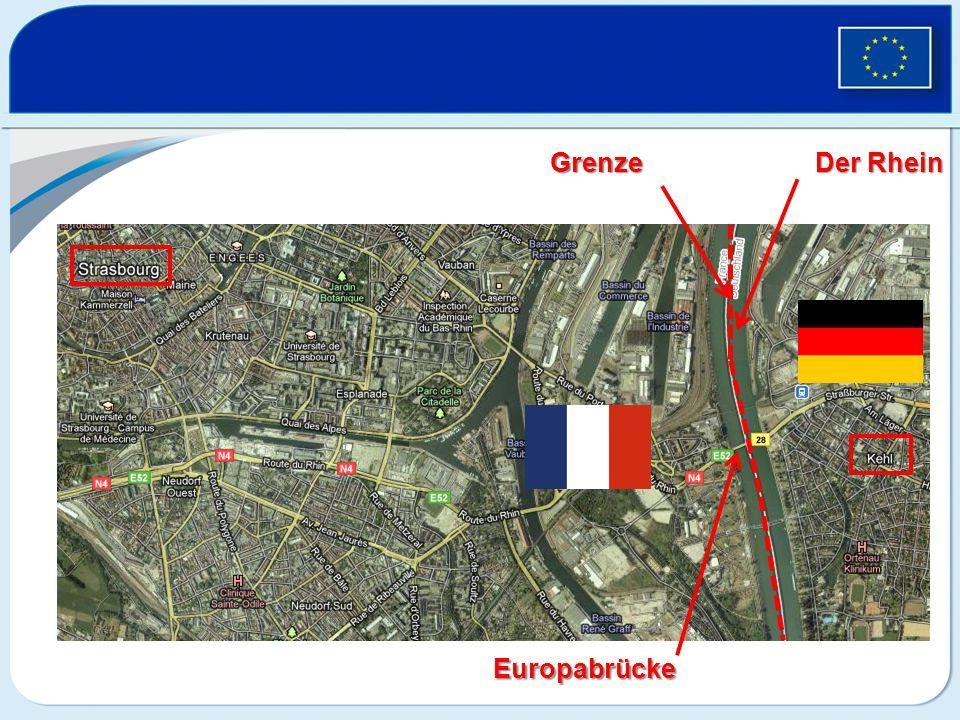 Grenze Der Rhein Europabrücke