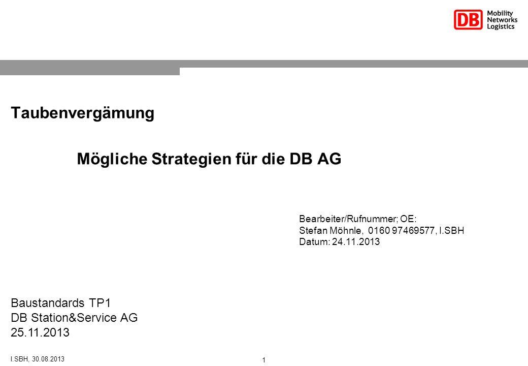 Mögliche Strategien für die DB AG