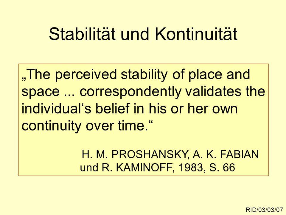 Stabilität und Kontinuität