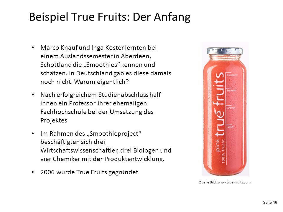 Beispiel True Fruits: Der Anfang