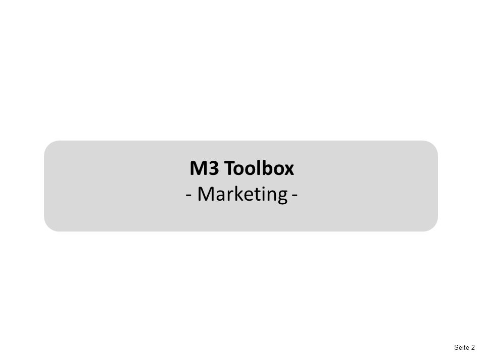 M3 Toolbox - Marketing -