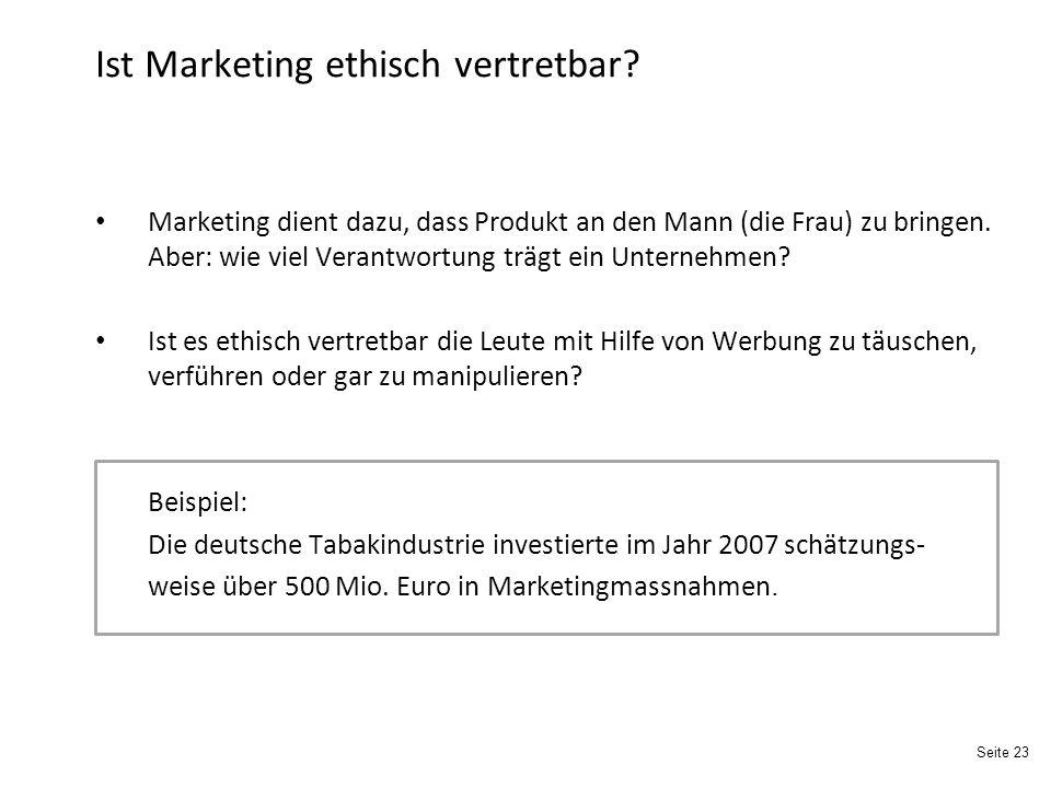 Ist Marketing ethisch vertretbar