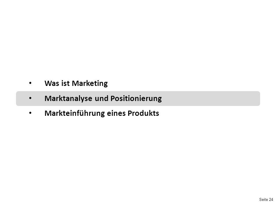 Marktanalyse und Positionierung Markteinführung eines Produkts