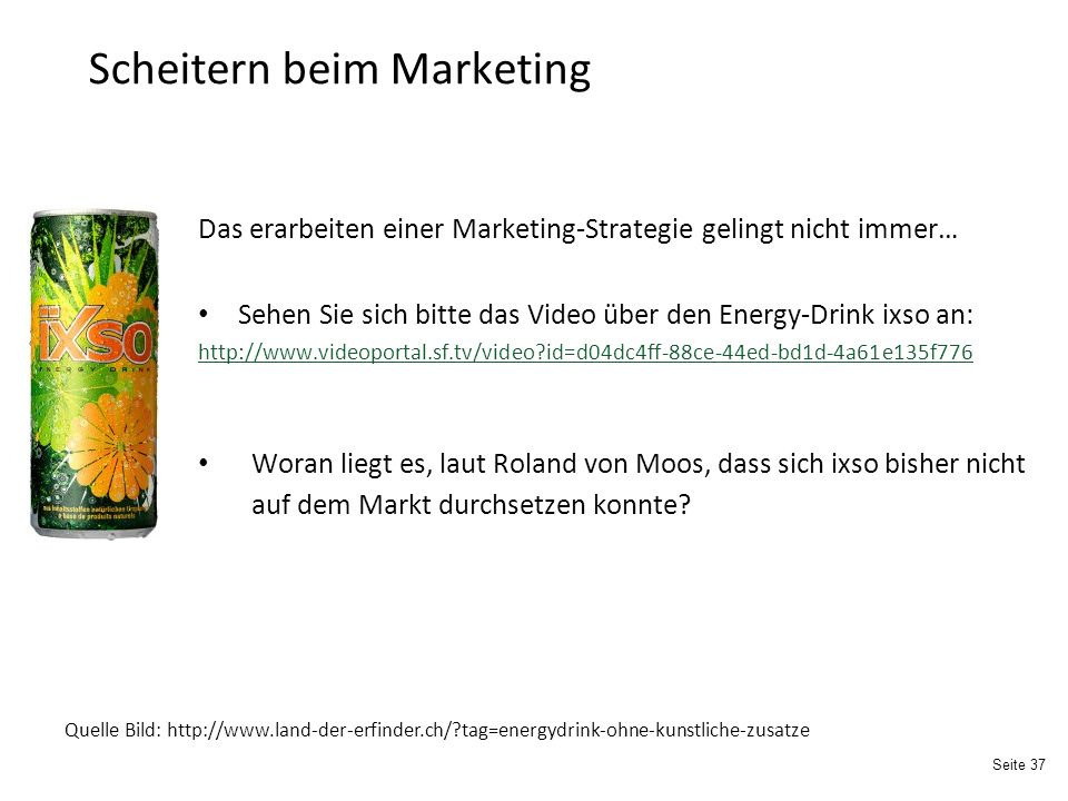 Scheitern beim Marketing