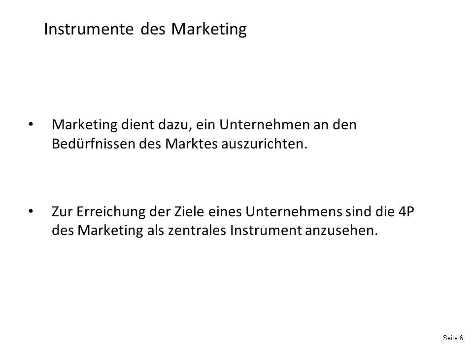 Instrumente des Marketing