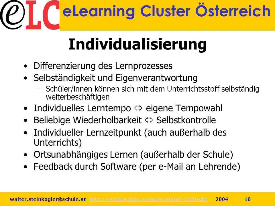 Individualisierung Differenzierung des Lernprozesses