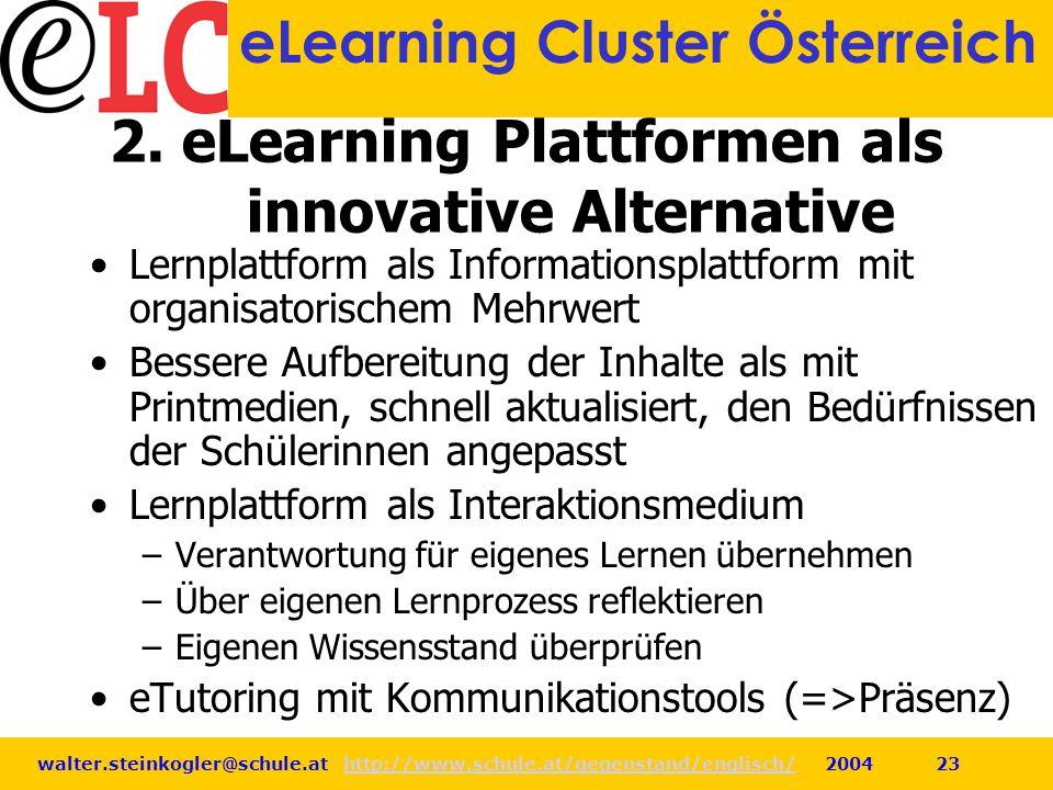 2. eLearning Plattformen als innovative Alternative