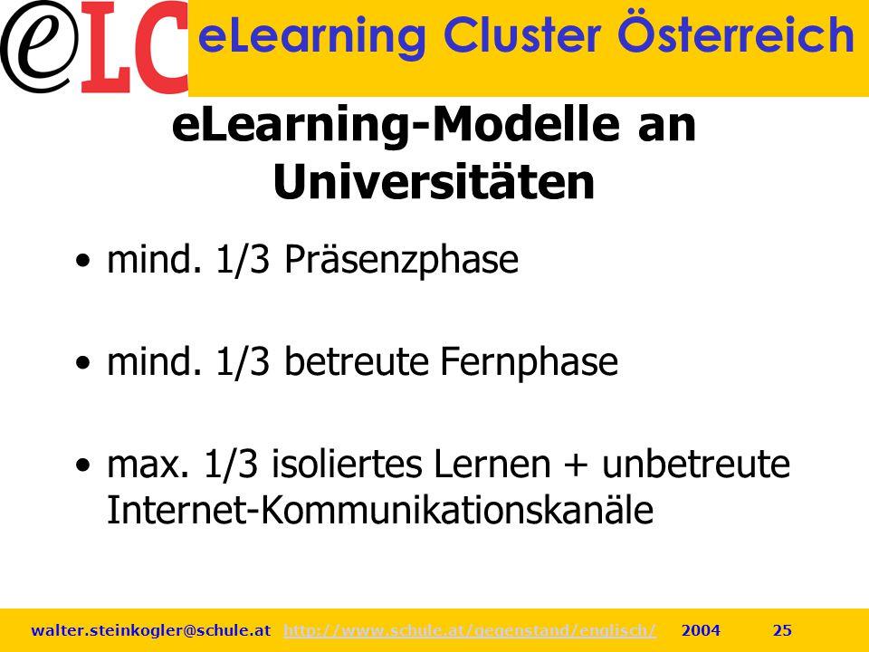 eLearning-Modelle an Universitäten