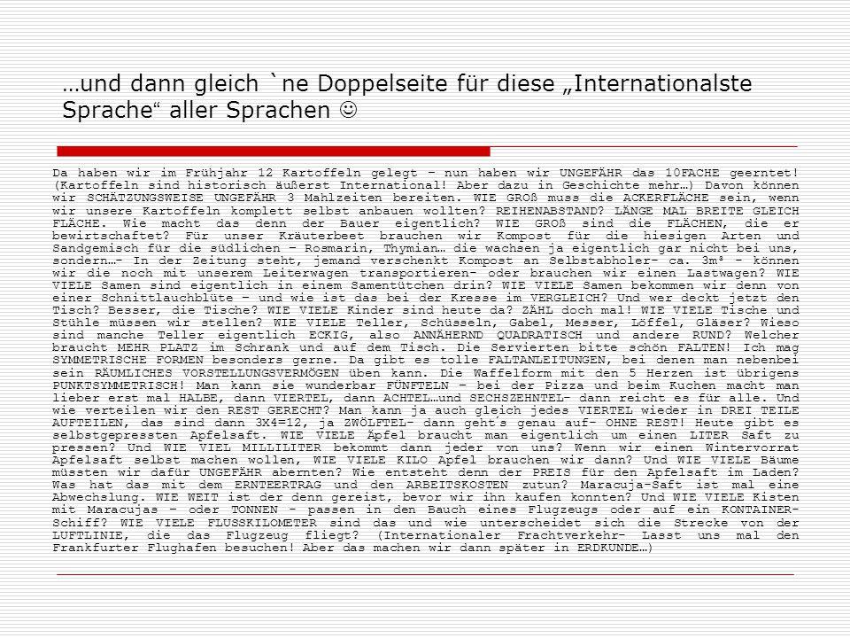 """…und dann gleich `ne Doppelseite für diese """"Internationalste Sprache aller Sprachen """