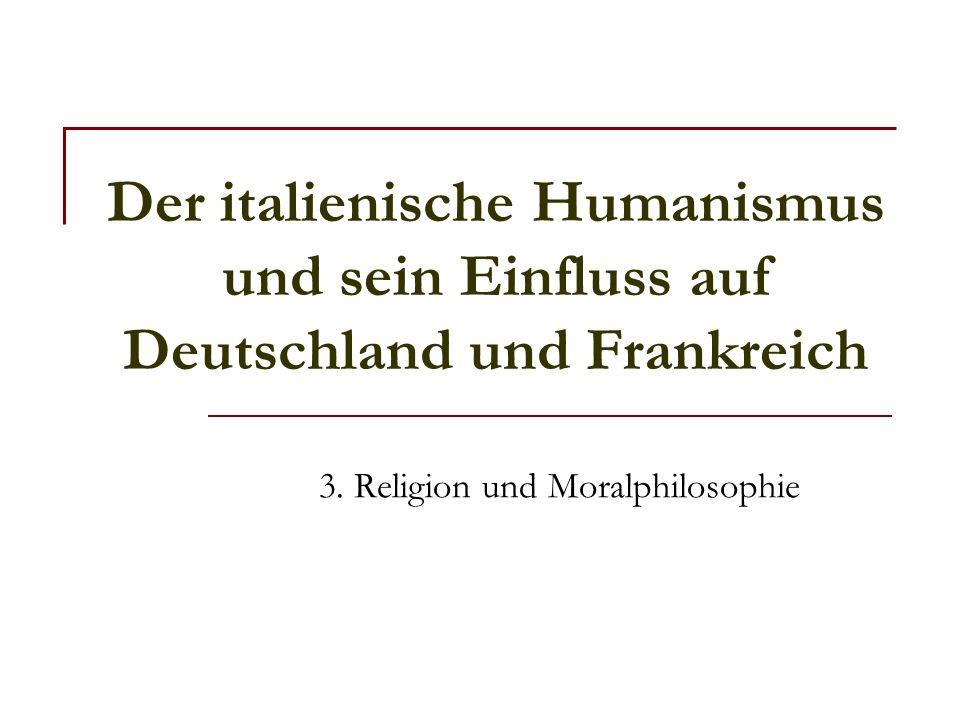 3. Religion und Moralphilosophie
