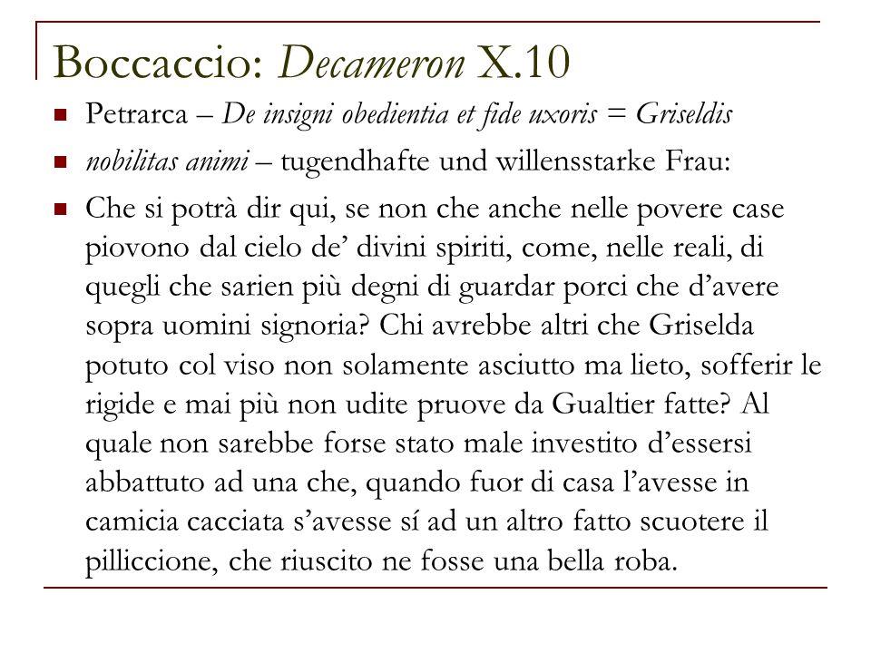 Boccaccio: Decameron X.10