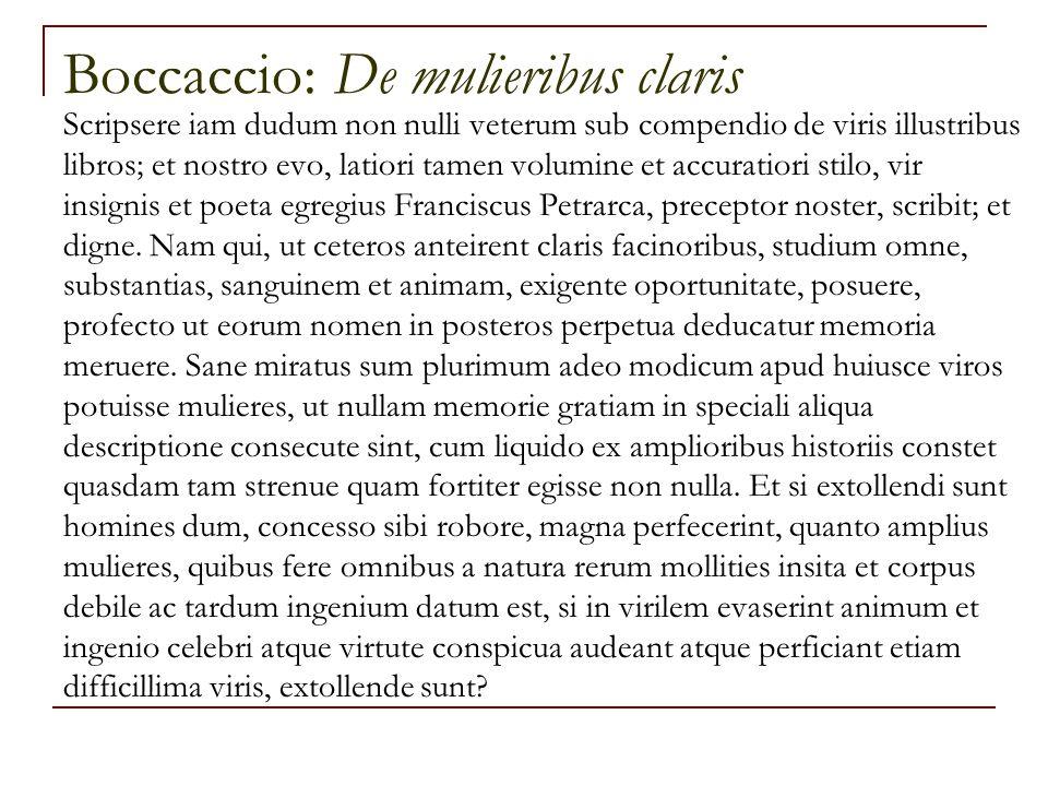 Boccaccio: De mulieribus claris