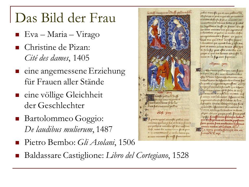 Das Bild der Frau Eva – Maria – Virago