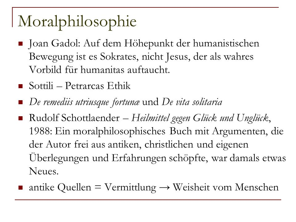 Moralphilosophie