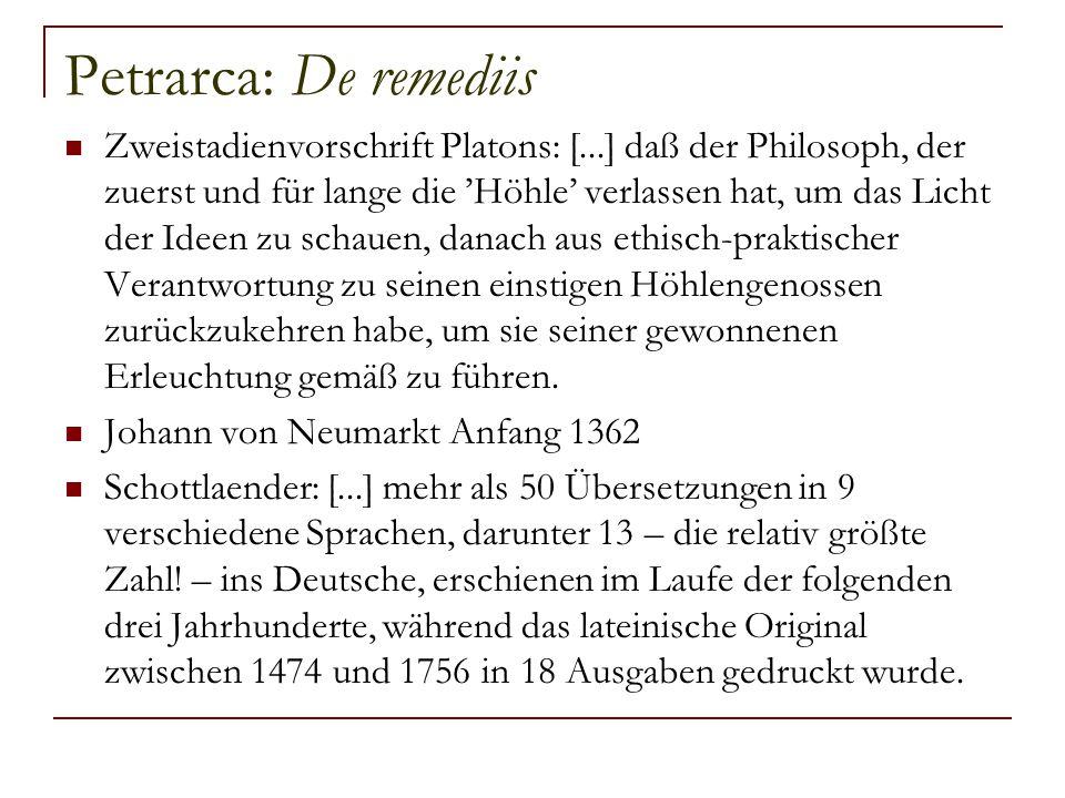 Petrarca: De remediis