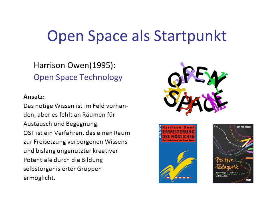 Open Space als Startpunkt