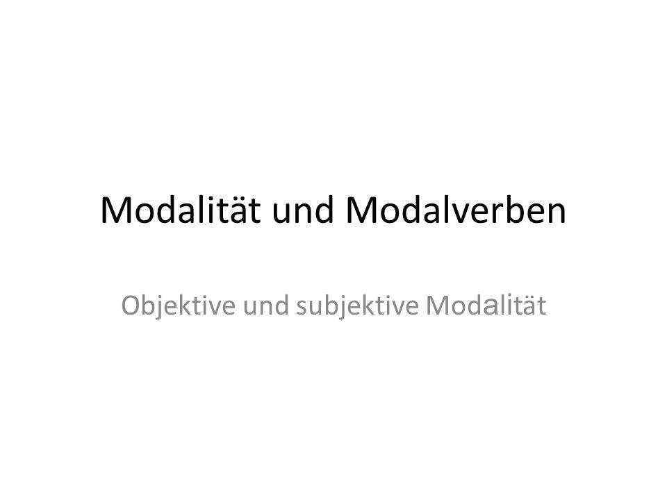 Modalität und Modalverben
