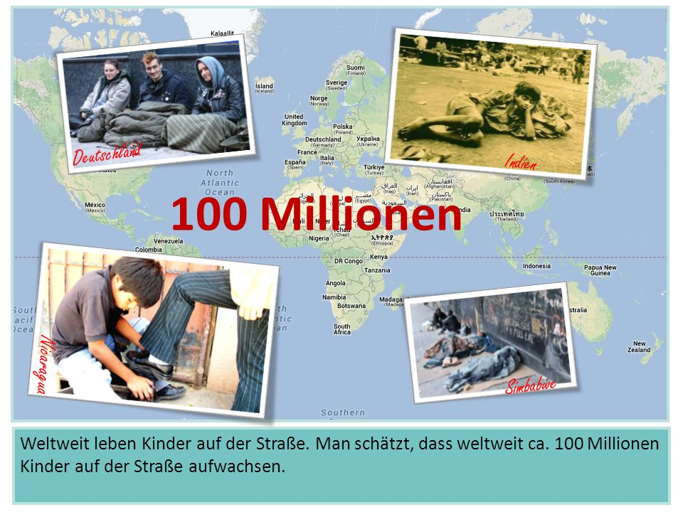 100 Millionen Deutschland Indien Nicaragua Simbabwe