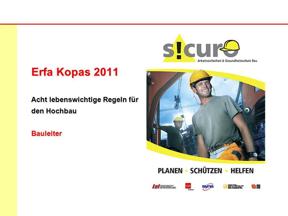 ERFA Tagung Arbeitssicherheit 2010/11