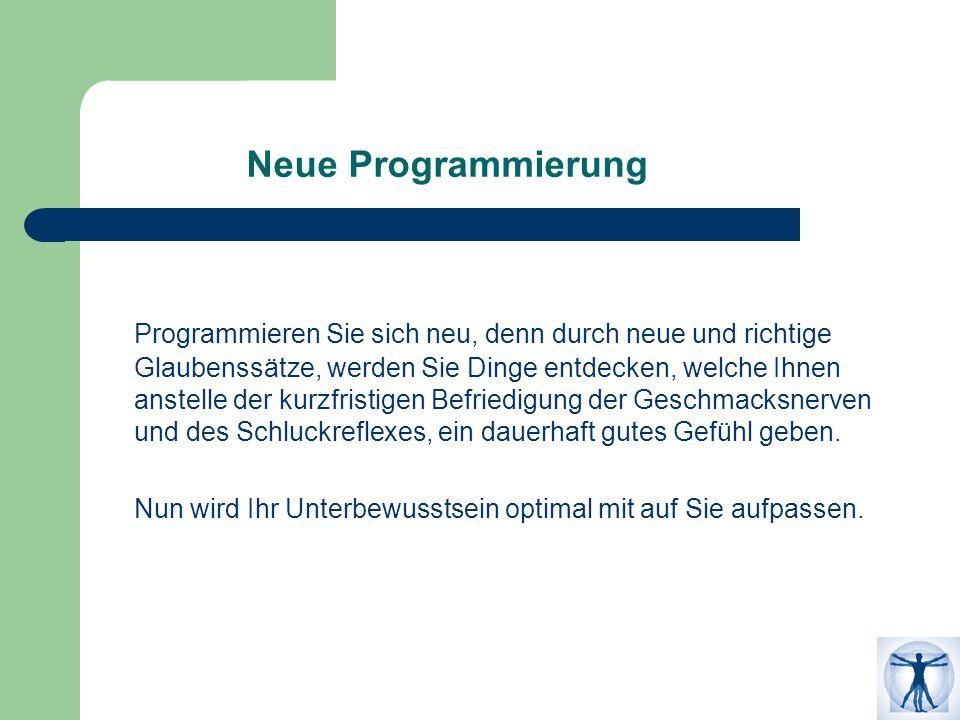 Neue Programmierung