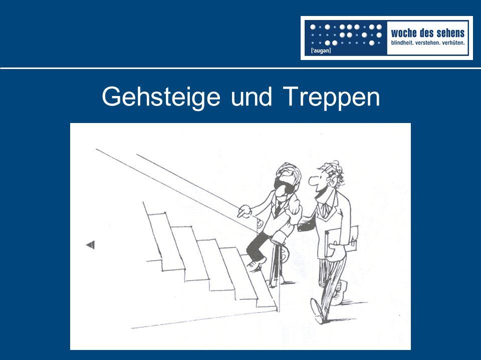 Gehsteige und Treppen
