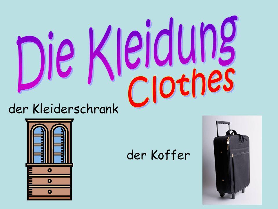 Die Kleidung Clothes der Kleiderschrank der Koffer