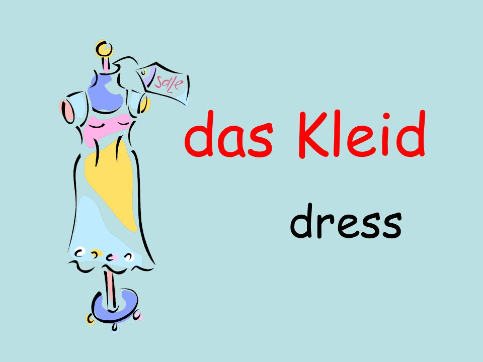 das Kleid dress