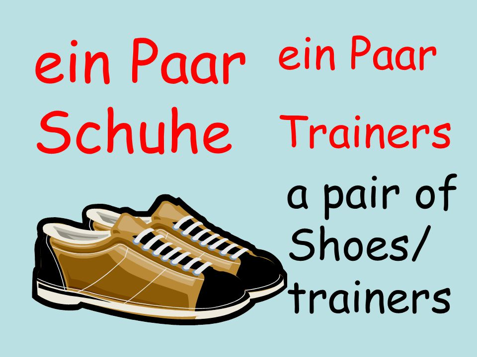 ein Paar Schuhe ein Paar Trainers a pair of Shoes/ trainers