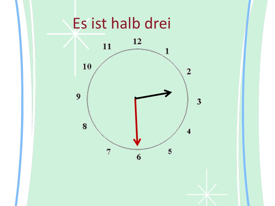 Es ist halb drei •