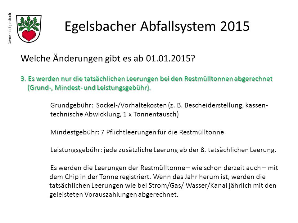 Welche Änderungen gibt es ab 01.01.2015
