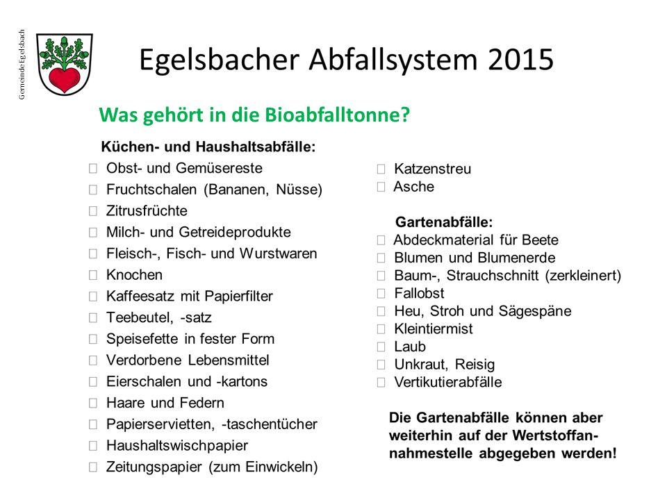 Was gehört in die Bioabfalltonne