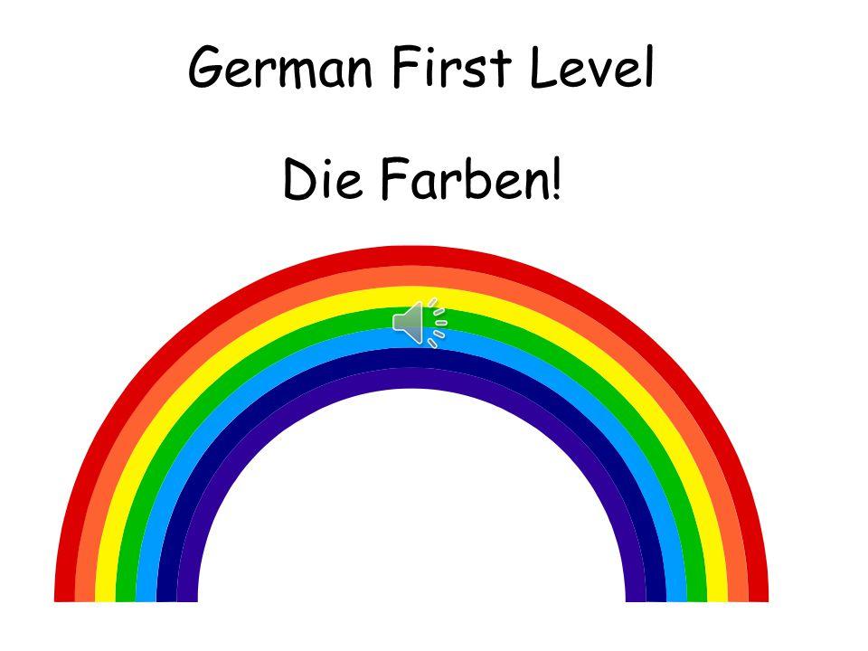 German First Level Die Farben!