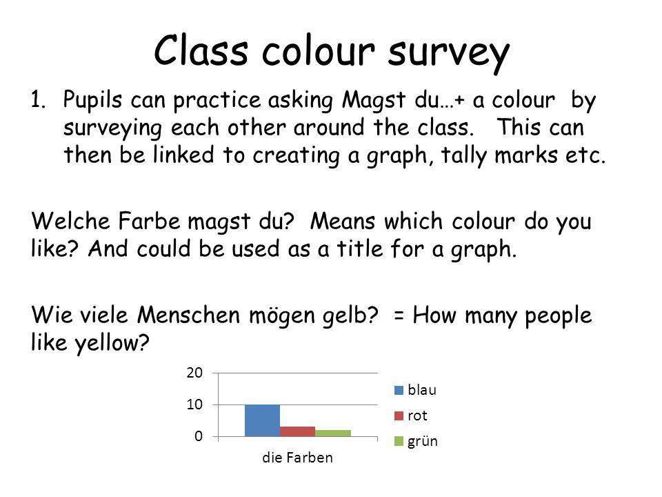 Class colour survey