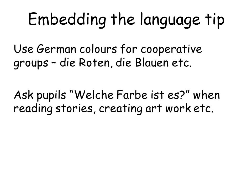 Embedding the language tip