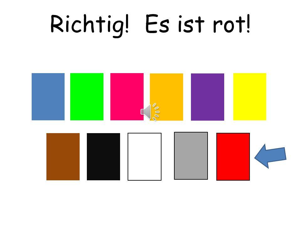 Richtig! Es ist rot! Choississez means choose