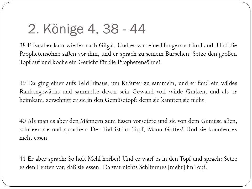 2. Könige 4, 38 - 44