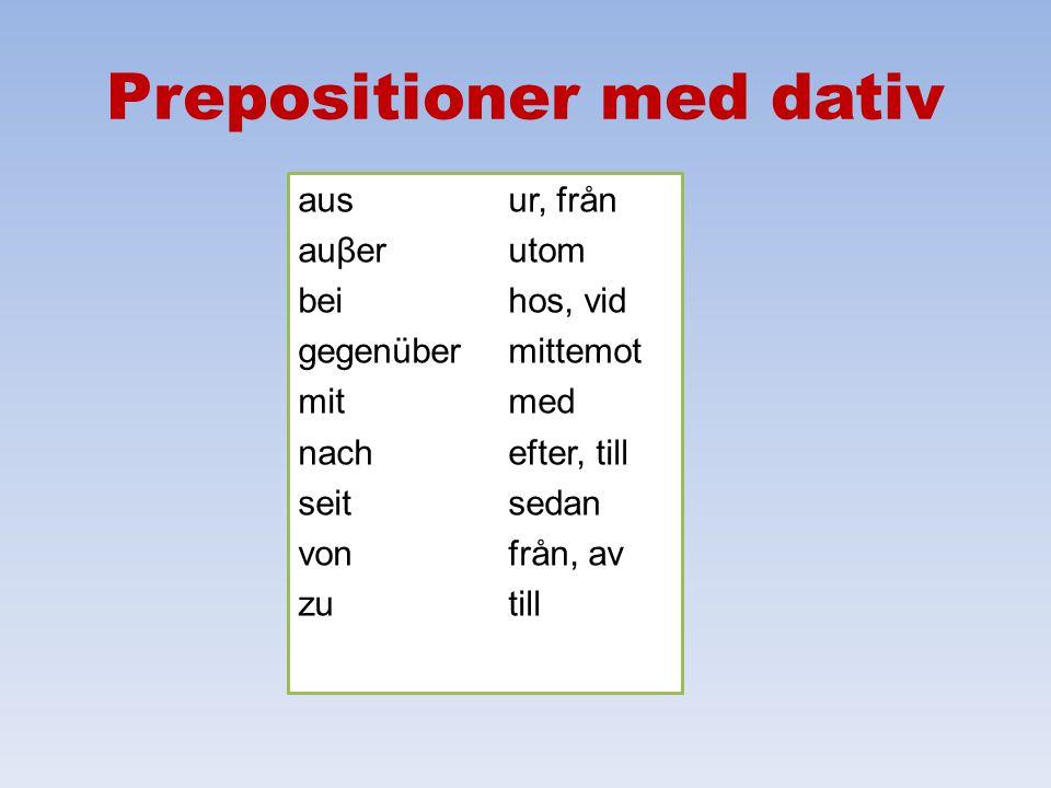 Prepositioner med dativ