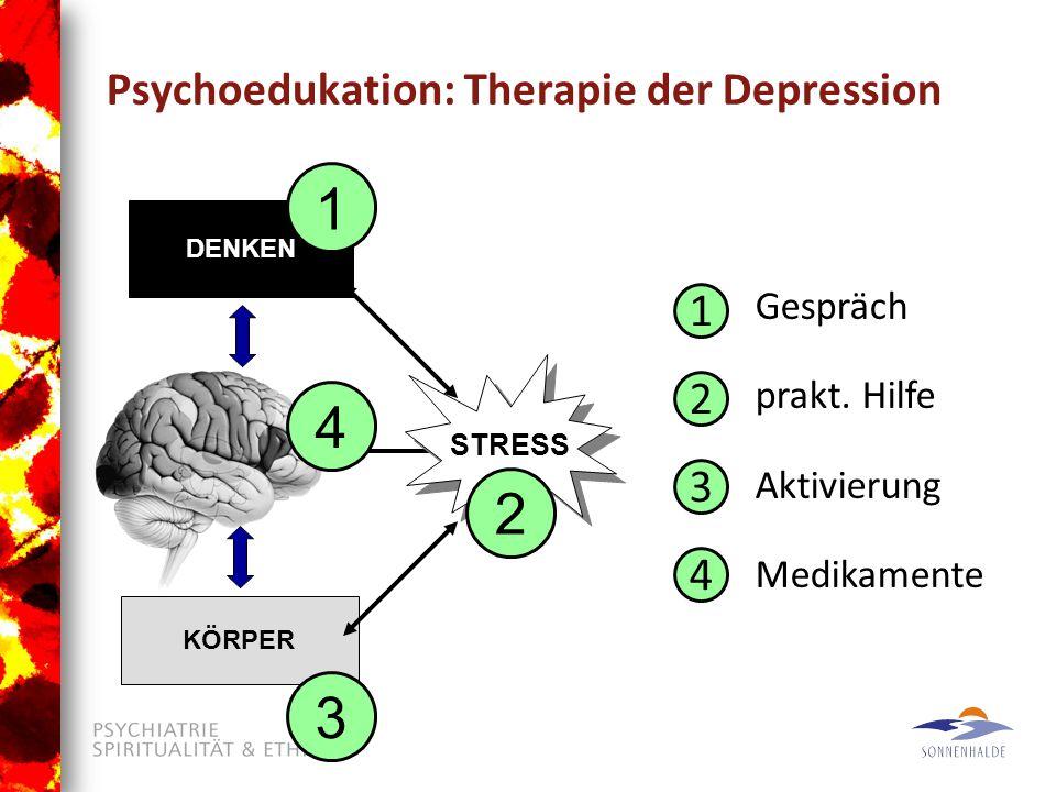 Psychoedukation: Therapie der Depression