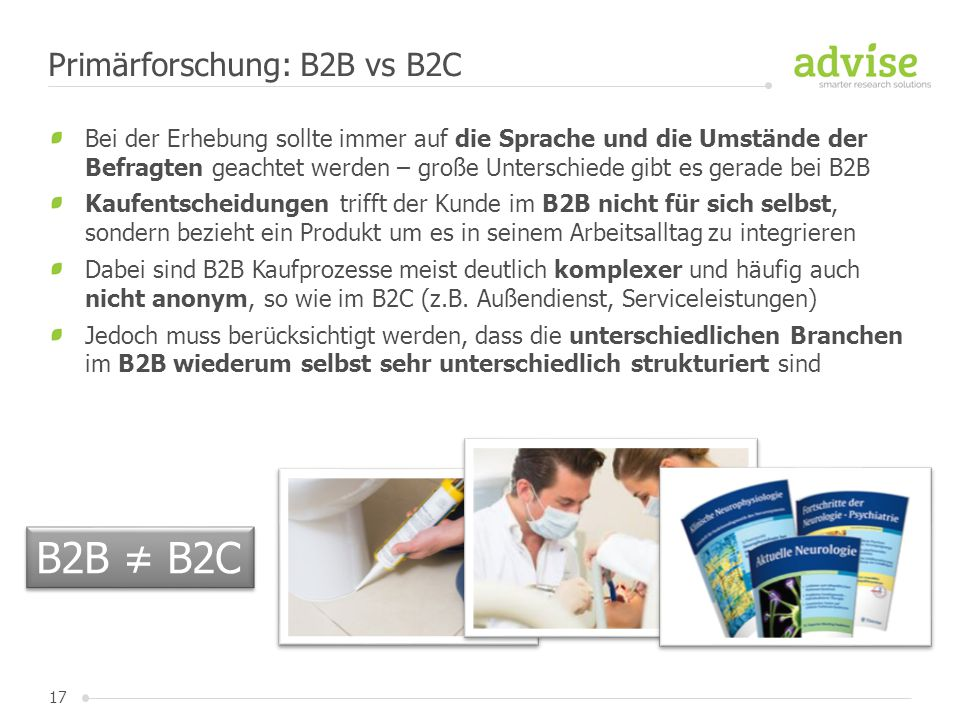 Primärforschung: B2B vs B2C