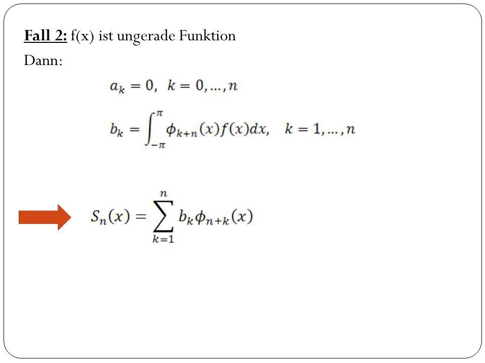 Fall 2: f(x) ist ungerade Funktion Dann: