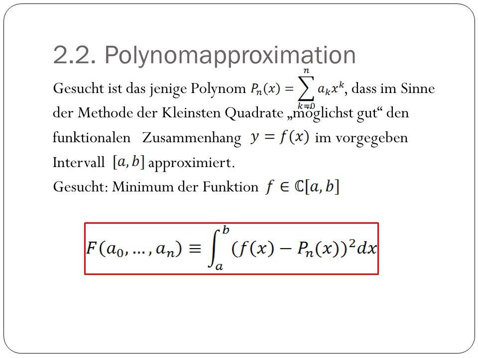 2.2. Polynomapproximation