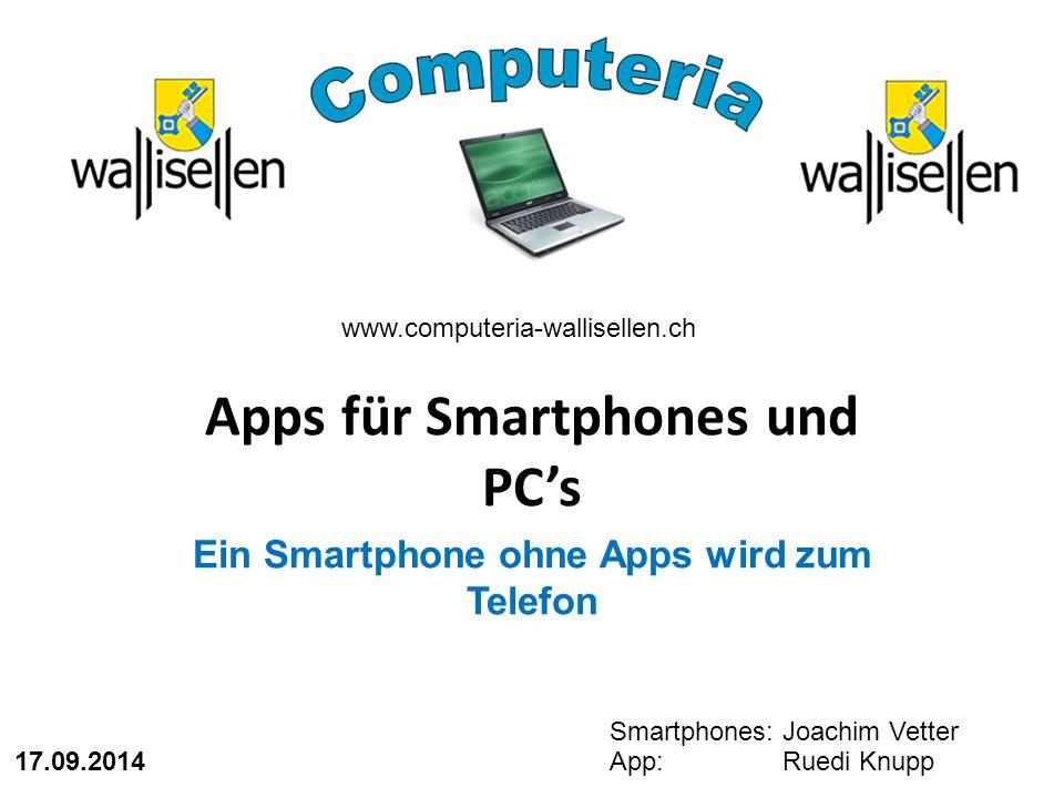 Apps für Smartphones und PC's